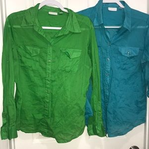 Two New York & co shirts